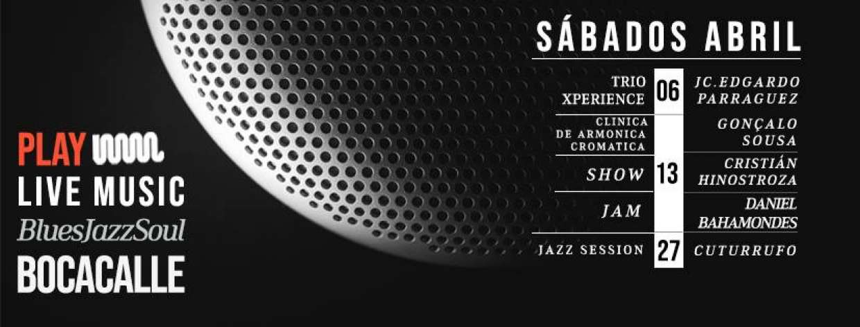 PLAY LIVE MUSIC/ programación SÁB.ABRIL